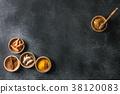 Ingredients for turmeric latte 38120083