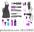 set of hairdressers tools 38120885