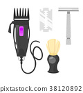 hairdressers tools for shaving 38120892