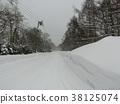 白雪皚皚 雪景 積雪 38125074
