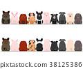 矢量 動物 豬 38125386