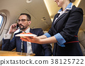 stewardess, serve, male 38125722