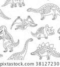 pattern, background, dinosaur 38127230