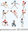 sport, baseball, vector 38130209