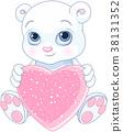 animal, bear, heart 38131352