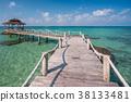 Wooded bridge to pavilion at Koh Kood island 38133481