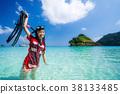 Asian girl travel Thailand sea in Phuket 38133485