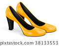 Yellow high heels. Women shoes 38133553