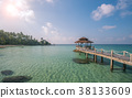 Wooded bridge to pavilion at Koh Kood island  38133609