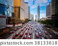 Taxi in Hongkong city 38133618