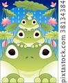 青蛙 蓮花 季節 38134384