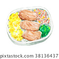 bento, box lunch, food 38136437