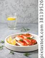 salmon, sandwich, food 38139526