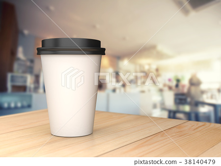 Coffee cup on the wood table. 38140479