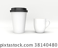 Blank Mock up coffee cup on white background 38140480