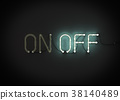 On and Off neon light sign.  38140489