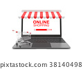 Online shopping concept on white background. 38140498