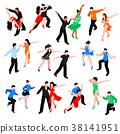 Dances Isometric People Set 38141951