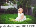 baby, grass, sitting 38141991