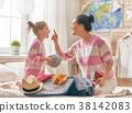 family preparing for the journey 38142083