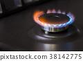 kitchen gas stove burning burner 38142775