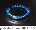 kitchen gas stove burning burner 38142777