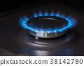kitchen gas stove burning burner 38142780