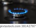kitchen gas stove burning burner 38142787