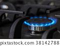 kitchen gas stove burning burner 38142788