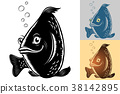 fish, cartoon, smile 38142895
