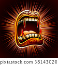 Mouth Open Blood Fang Halloween Vampire Jaws Fang 38143020