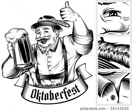 Oktoberfest Beer Holiday Germany Glass Foam Ink 38143030