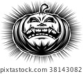 Pumpkin Smiling Halloween Horror Spooky Drawing 38143082