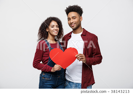 Young happy African American couple in love 38143213