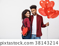 Young attactive African American couple holding 38143214