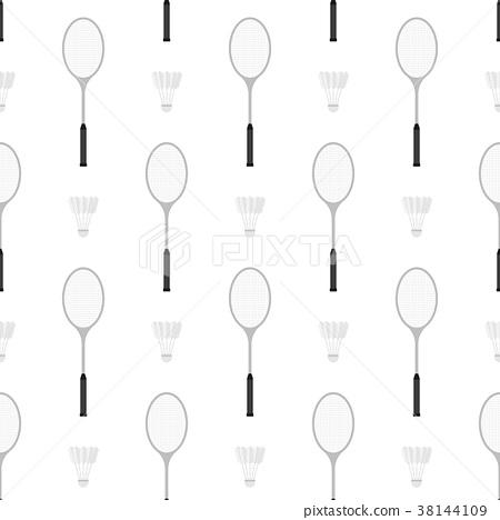 Badminton racket and shuttlecock seamless pattern 38144109