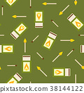 Matches and matchbox seamless pattern 38144122