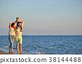 family asian beach 38144488
