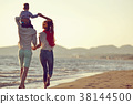 family, beach, father 38144500