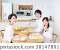 父母和小孩 親子 吃 38147801