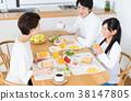 父母和小孩 親子 吃 38147805