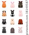 สัตว์,ภาพวาดมือ สัตว์,หมู 38149587