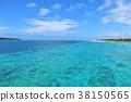 ท้องฟ้าสีครามและทะเลสีฟ้าของโอกินาว่ามิยาโกะจิมะ 38150565