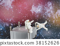 an Astronaut floating in black background  38152626
