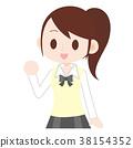 制服的高中女孩 38154352