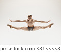 Athletic ballet dancer in a perfect shape 38155558