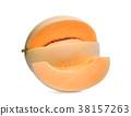 honeydew melon(sunlady) isolated on white  38157263