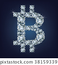 Bitcoin made a lot of diamonds. Cryptocurrency. 38159339