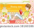 여자, 책, 독서 38160386