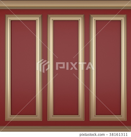 decoration classic red wall ,3d render 38161311